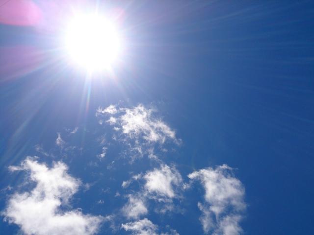太陽の日差しの写真