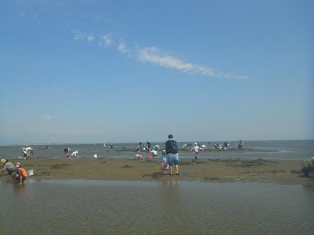 潮干狩り会場の写真