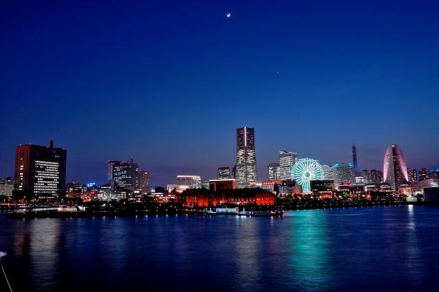 横浜港の夜景の写真