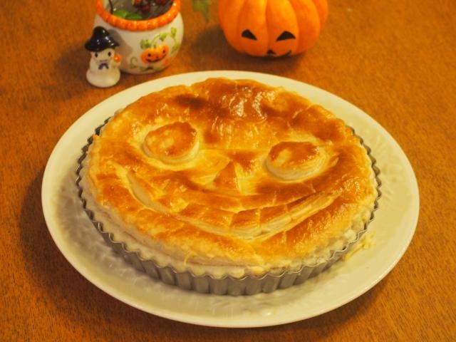 ハロウィンのかぼちゃパイの写真