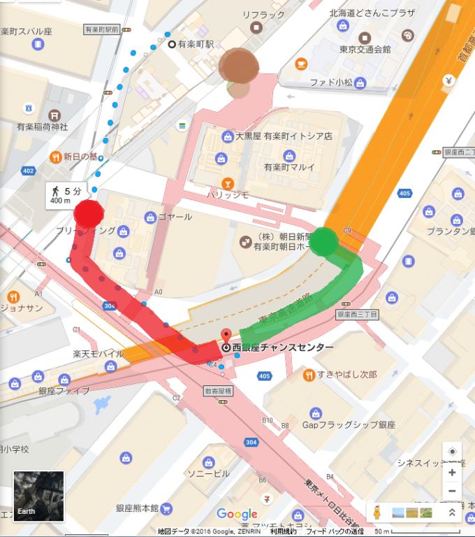 西銀座チャンスセンター地図